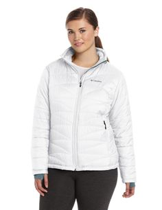 Columbia Women's Mighty Lite III Jacket, White, 1X -- Read more  at the image link.