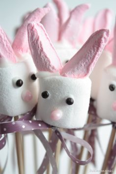 marshmallow bunny with pink marshmallows