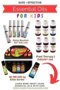 Best Essential Oil Sets for Kids. How to use essential oils with children. Essential Oils have to be age appropriate. Find out what that means, and more details on aromatherapy around children, here! Essential Oils For Colds, Essential Oil Set, Natural Essential Oils, Stress And Pregnancy, Chamomile Oil, Plant Therapy, Oil Uses, Diy For Kids, Aromatherapy