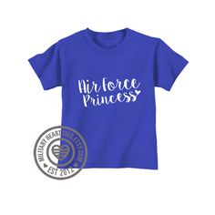 Infant or Toddler Air Force Princess tshirt by MilitaryHeartTees