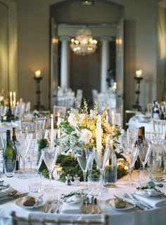 WEDDING DETAILS // wedding dinner table set up at Aynhoe Park - Flowers by fairy nuff flowers. Photographed by…