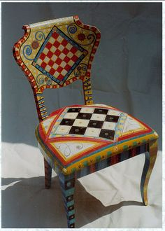 great painted chair!