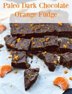 Chocolate + Orange is amazing! And this Paleo Dark Chocolate Orange Fudge Recipe is awesome. Erin from Pure & Simple Nourishment shares her recipe! Dairy Free Recipes Easy, Gluten Free Treats, Real Food Recipes, Paleo Recipes, Paleo Sweets, Paleo Dessert, Delicious Desserts, Vegan Desserts, Dessert Recipes