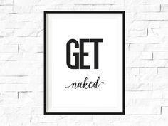 Originaldruck - Get Naked, DIN A3, Humor Badezimmer Druck - ein Designerstück von ArtPrint bei DaWanda