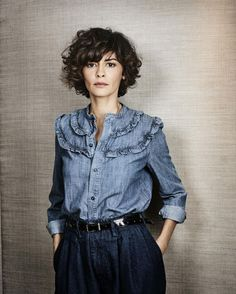Hair styles short curly audrey tautou 24 New ideas Cute Hairstyles For Short Hair, Curly Bob Hairstyles, Short Curly Hair, Curly Girl, Short Hair Cuts, Curly Hair Styles, Wavy Hair, Perfect Hairstyle, Curly Pixie