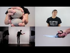 ROCK PAPER SCISSORS | Andrew Huang makes the beat for his entire song out of only rocks, paper, and scissors.