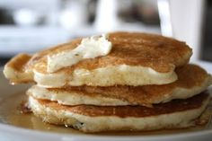 Homemade Pancake Mix - just made these for dinner! Soooooo easy & yummy. Never go back to store bought mixes.