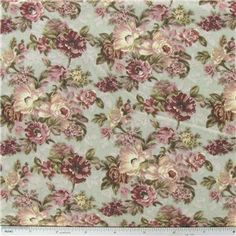 """Floral on Sage Fabric is 42"""" - 43"""" wide and 100% cotton.    CARE INSTRUCTIONS - Machine Wash, Warm; Tumble Dry; Remove Promptly.    Available in 1-yard increments. Average bolt size is approximately 9 yards. Price displayed is for 1-yard. Enter the total number of yards you want to order."""