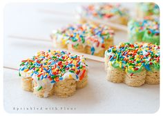 Bake sale treat idea- bar cookies cut with cookie cutter & put on popsicle stick... look absolutely terrible for you, but for an occasional treat, this would be good.