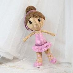 Ballerina doll amigurumi pattern - printable PDF