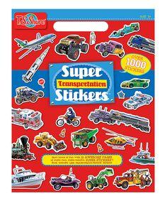 Love this Transportation Sticker Book by T.S. Shure on #zulily! #zulilyfinds