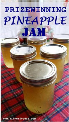 prizewinning-pineapple-jam-vertical Pineapple Jelly Recipes, Canning Pineapple, Pineapple Jam, Crushed Pineapple, Jam Recipes, Canning Recipes, Canning 101, Delicious Recipes, Recipes