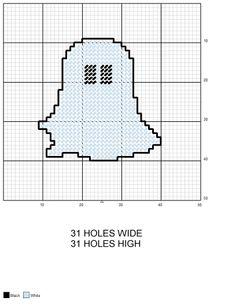 Ghost #1 Halloween plastic canvas pattern