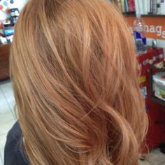 strawberry blonde with light blonde balayage - Google Search
