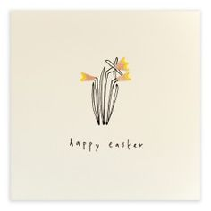 Pencil Shavings Cards - Easter Daffodils