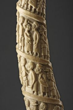 Finch & Co - Loango, West African, Kongo Peoples Carved Ivory Tusk