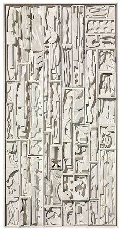 Louise Nevelson , Maquette for White Vertical Water Louise Nevelson, Concrete Sculpture, Concrete Art, Sculptures Céramiques, Found Art, Assemblage Art, Abstract Sculpture, White Art, Public Art