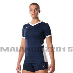 NEW YOUTH GIRLS NIKE DRI-FIT STOCK HYPERACE S/S VOLLEYBALL JERSEY MED NAVY BLUE #Nike #VolleyballSports