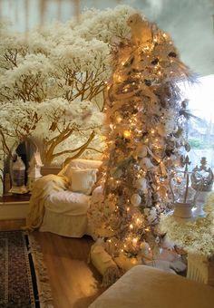 snowy owl Christmas tree