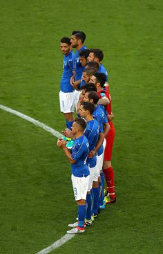 #EURO2016 Italy Players observe a minute of silence for the victims of the Bangladesh terror attack prior to the UEFA EURO 2016 quarter final match between...