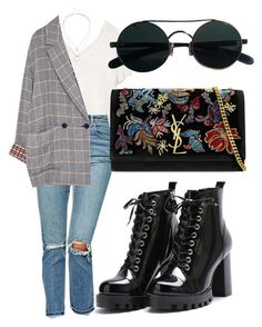 """"""""""" by directioner91 ❤ liked on Polyvore featuring ASOS, Yves Saint Laurent and Sole Society"""