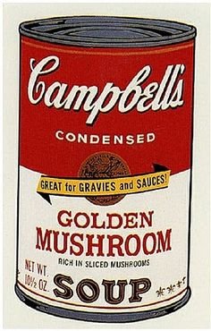 Andy Warhol: Campbell's Soup II: Golden Mushroom