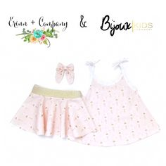 Layla Skirt or Hollie tank top- **BONUS*** free bow with purchase