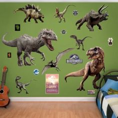 Fathead NBC Universal Jurassic World Dinosaurs Peel and Stick Wall Decal