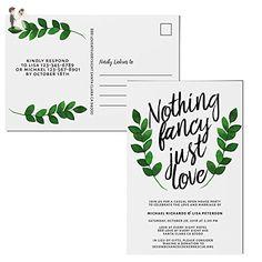 Wedding Reception Invitation Postcards, Reception Invitation Cards - Wedding party invitations (*Amazon Partner-Link)