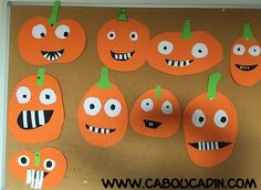 faire une citrouille avec papier orange - bricolage halloween