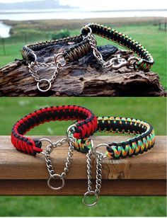 Custom King Cobra Half Check Paracord Dog Collar, Custom King Cobra Martingale Style Paracord Dog Collar, Choose Your Colors by CSJCreations on Etsy https://www.etsy.com/listing/182041214/custom-king-cobra-half-check-paracord