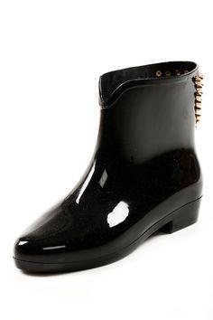 Shoptiques — Studded Ankle Rain Boots