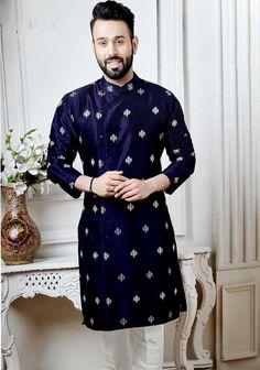 Boys Dressing Style, Blue Sherwani, Boys Kurta Design, Rajasthani Dress, Kurta Men, Mens Kurta Designs, Royal Clothing, Indian Men Fashion, Festival Wear