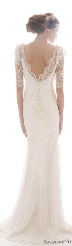 Elizabeth Fillmore Sandrine - wedding dress #back