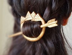 Golden aztec indian tribal arrow  hair pin shawl by theancientmuse. :)