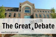 Why Christian School: The Great {Education} Debate - There Is Grace