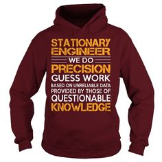 Awesome Tee For Stationary Engineer T-Shirts, Hoodies. VIEW DETAIL ==► https://www.sunfrog.com/LifeStyle/Awesome-Tee-For-Stationary-Engineer-93278187-Maroon-Hoodie.html?41382