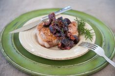 Pork Chops with Bacon Fig Sauce