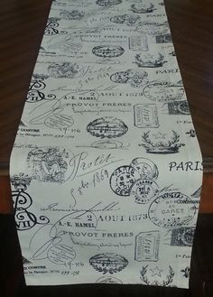 FRENCH TABLE RUNNER Select Your Size and Color by MyModernHome, $15.00
