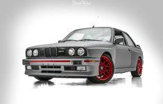 NorthWest Auto Salon wraps E30 M3 in matte silver with red accents