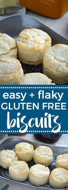 These easy and simple Gluten Free Biscuits are a adapted from my mom's biscuit recipe. These buttery, flaky, fluffy gluten free biscuits are everything you want in a biscuit! Perfect for breakfast or dinner. Gluten free biscuit recipe from @whattheforkblo