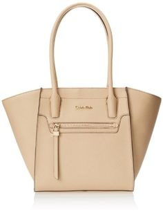 Women's Top-Handle Handbags - Calvin Klein Key Item Saffiano Tote LeatherNudeOne Size * Details can be found by clicking on the image.