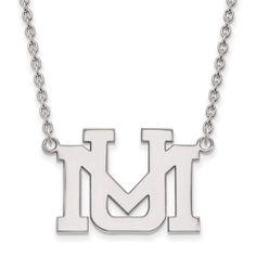 14kw LogoArt University of Montana Large Pendant w/Necklace