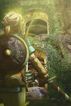 The Legend Of Zelda 684828687066643793 - Here's my first illustration for I collaborated with my wife, who provided the background while I drew Link from The Legend of Zelda: Breath of the Wild. Source by The Legend Of Zelda, Legend Of Zelda Memes, Legend Of Zelda Breath, Breath Of The Wild, Link Zelda, Twilight Princess, Super Manga, Zelda Video Games, Pokemon