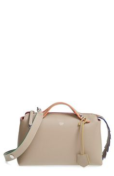 Fendi 'Small By the Way - Croc-Tail' Convertible Leather Shoulder Bag