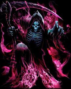 Sun Tutorial and Ideas Death Tattoo, Reaper Tattoo, Arte Horror, Horror Art, Arte Cholo, Grim Reaper Art, Lord Hanuman Wallpapers, Gothic Fantasy Art, Beautiful Dark Art