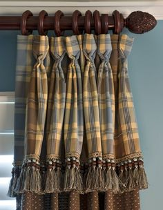 Panel with attached valance