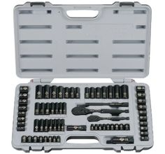 Stanley Tool Sets 92824 Laser Etched 69 Piece Socket And Black Chrome #Stanley