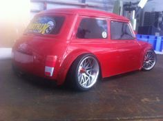 Photo shopped image Red Mini Cooper, Mini Cooper Classic, Classic Mini, Classic Cars, Minis, Cooper Tires, Mini Copper, John Cooper Works, Mini Trucks