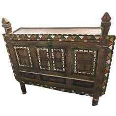 Antique Console Damchia Sideboard Hand Carved Indian Chest (1,300 CAD) ❤ liked on Polyvore featuring home, furniture, storage & shelves, sideboards and hand carved furniture